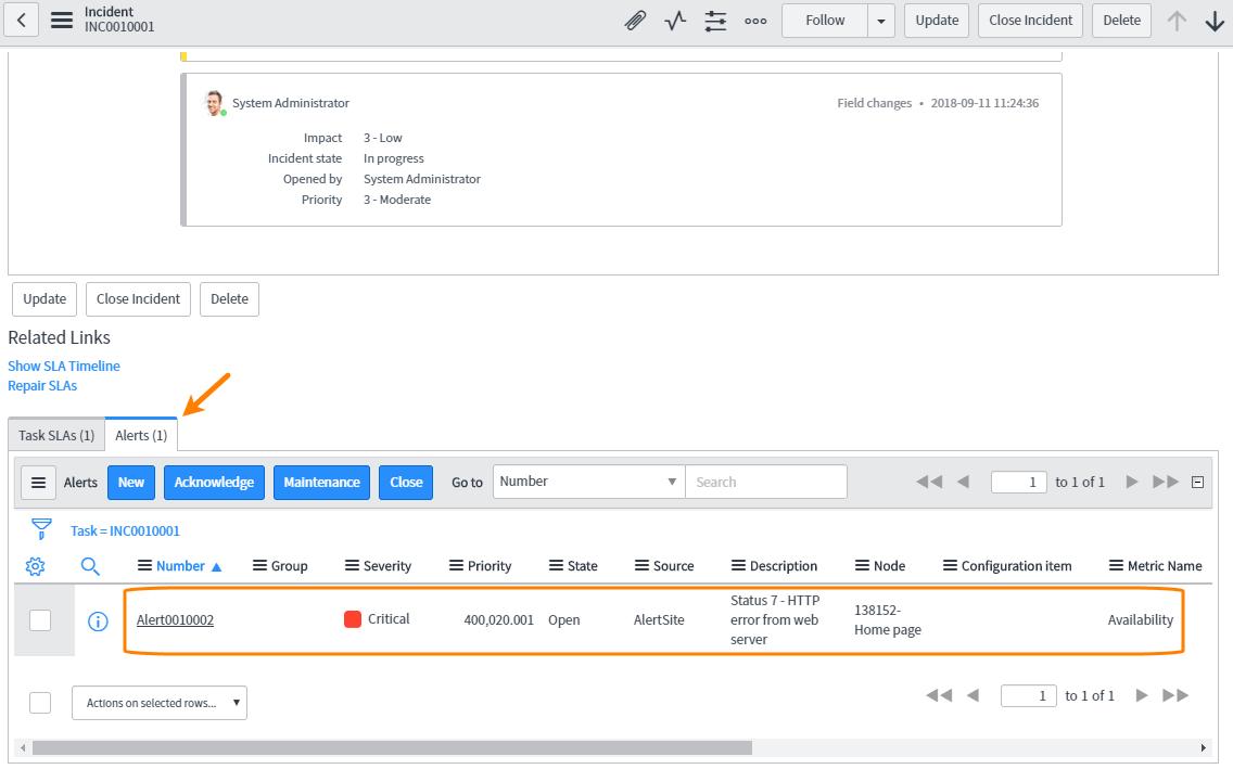 ServiceNow Integration   AlertSite Documentation