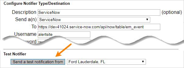 ServiceNow Integration | AlertSite Documentation