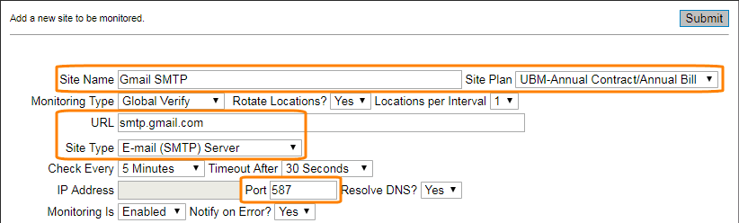 Creating an Email Server (POP/SMTP/IMAP) Monitor   AlertSite