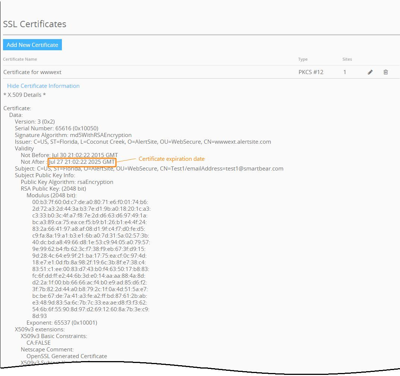 Using Ssl Certificates And Java Keystores Alertsite Documentation