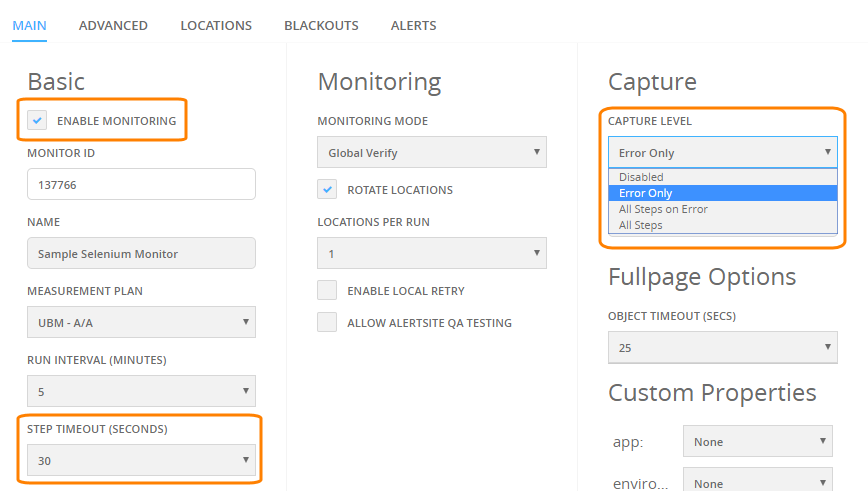 Website Monitoring With Selenium and AlertSite | AlertSite Documentation