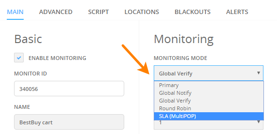 Create A Service Level Agreement Sla Alertsite Documentation
