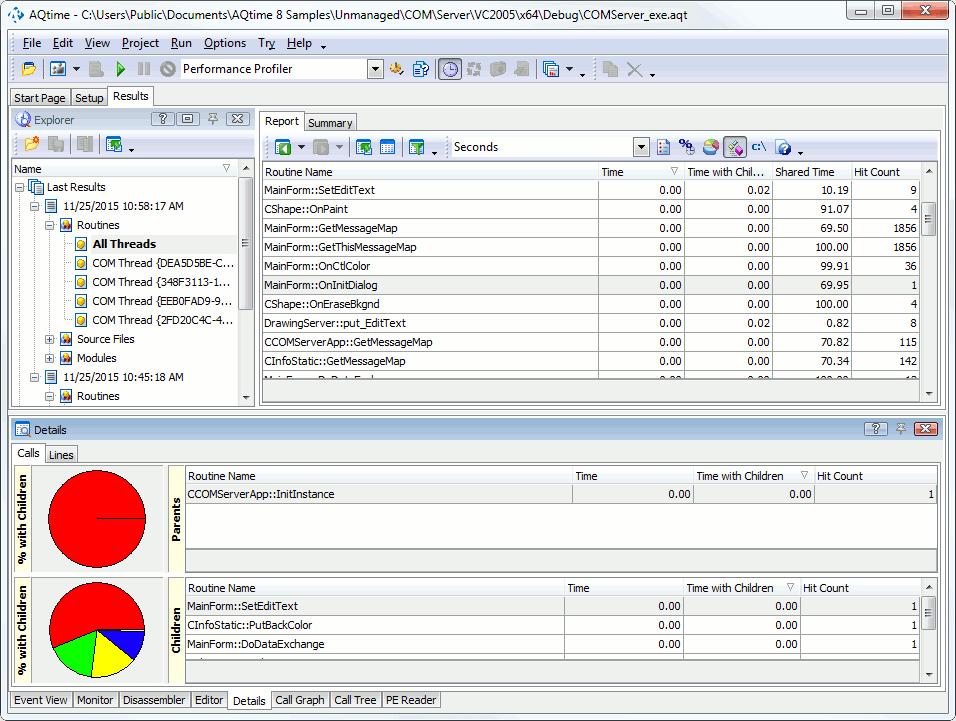 Profiling COM Applications Tutorial: 2 - Profiling Multi