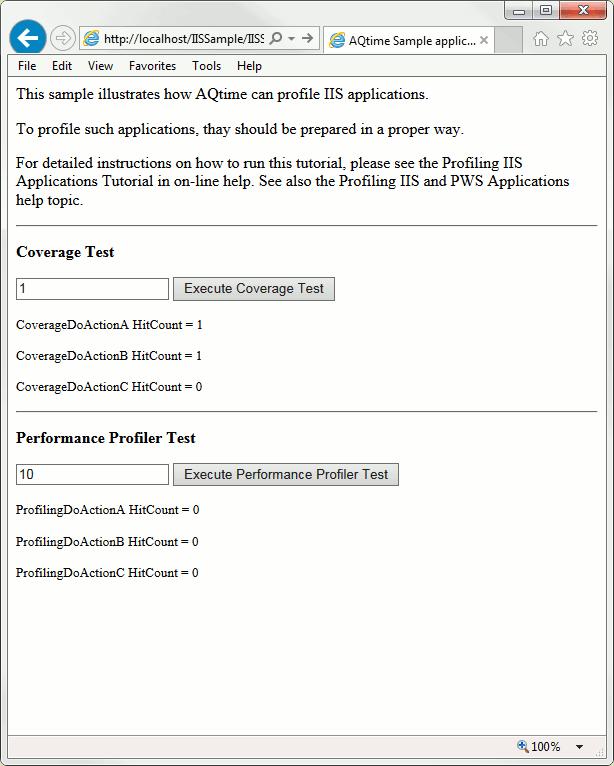 Profiling IIS Applications Tutorial: 1 - Generating the Data