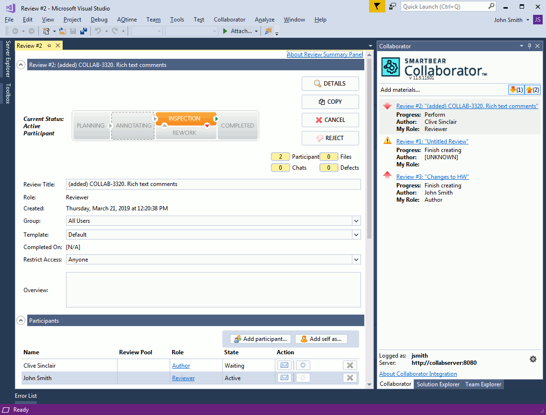 Visual Studio Extension Overview | Collaborator Documentation