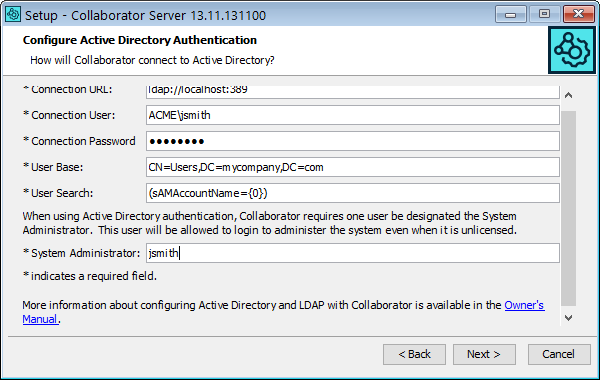 LDAP and Active Directory Authentication | Collaborator Documentation