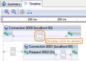 Load testing with LoadComplete: Deleting think time in the Timeline