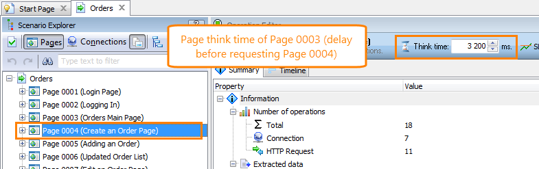 Changing Think Time for Pages and Requests | LoadComplete