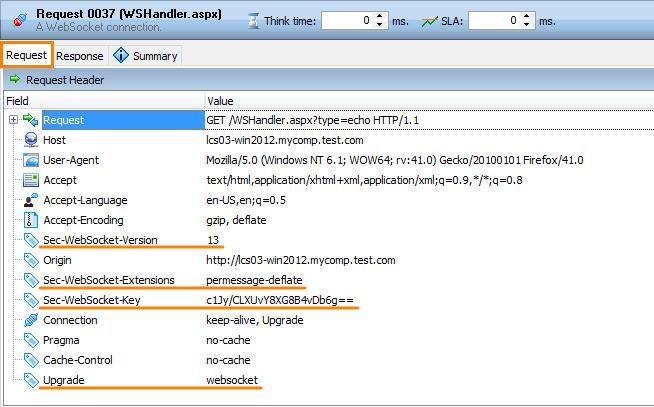 WebSocket Connection Operation | LoadComplete Documentation