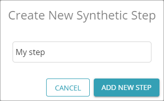 Create New Synthetic Step dialog