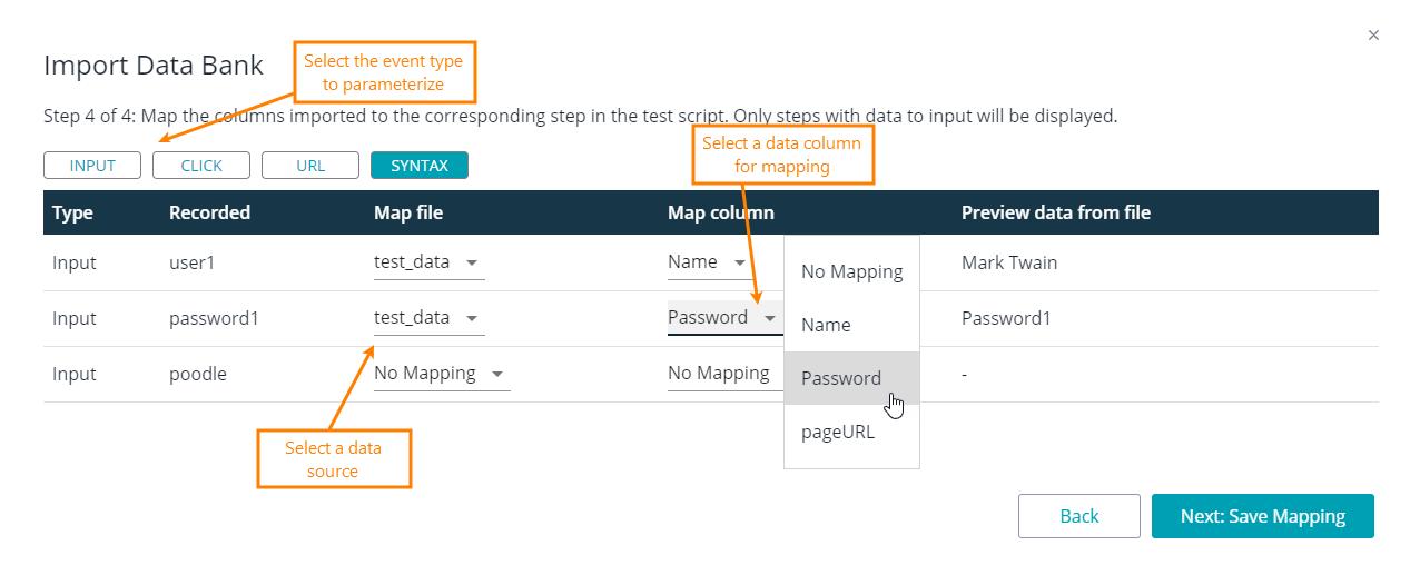 Import Data Bank: Map Values