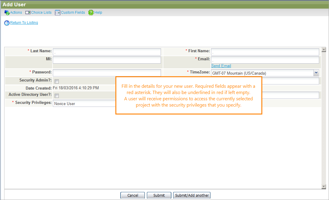 Add Users   QAComplete Documentation