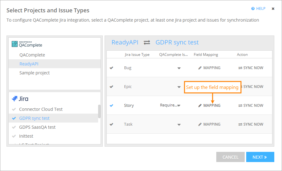 Basic Field Mapping | QAComplete Documentation