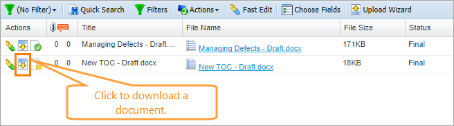 Upload and Download Documents | QAComplete Documentation