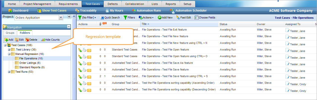 Test Cases | QAComplete Documentation