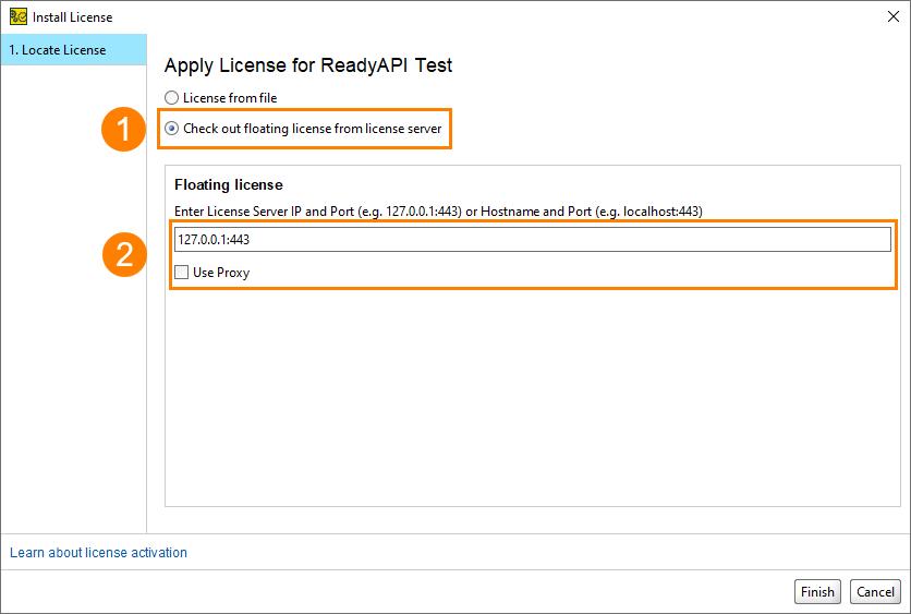 Applying Floating Licenses   ReadyAPI Documentation