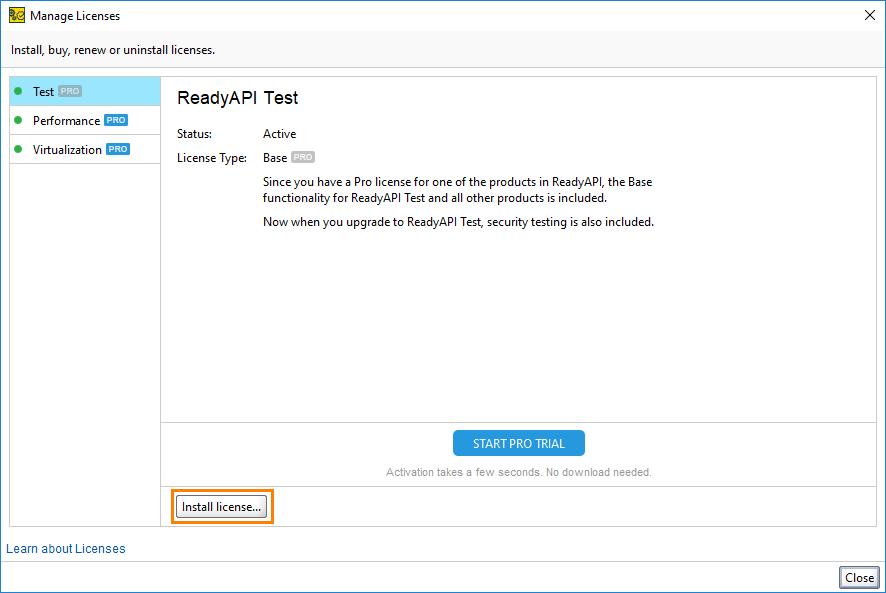 Offline Activation | ReadyAPI Documentation