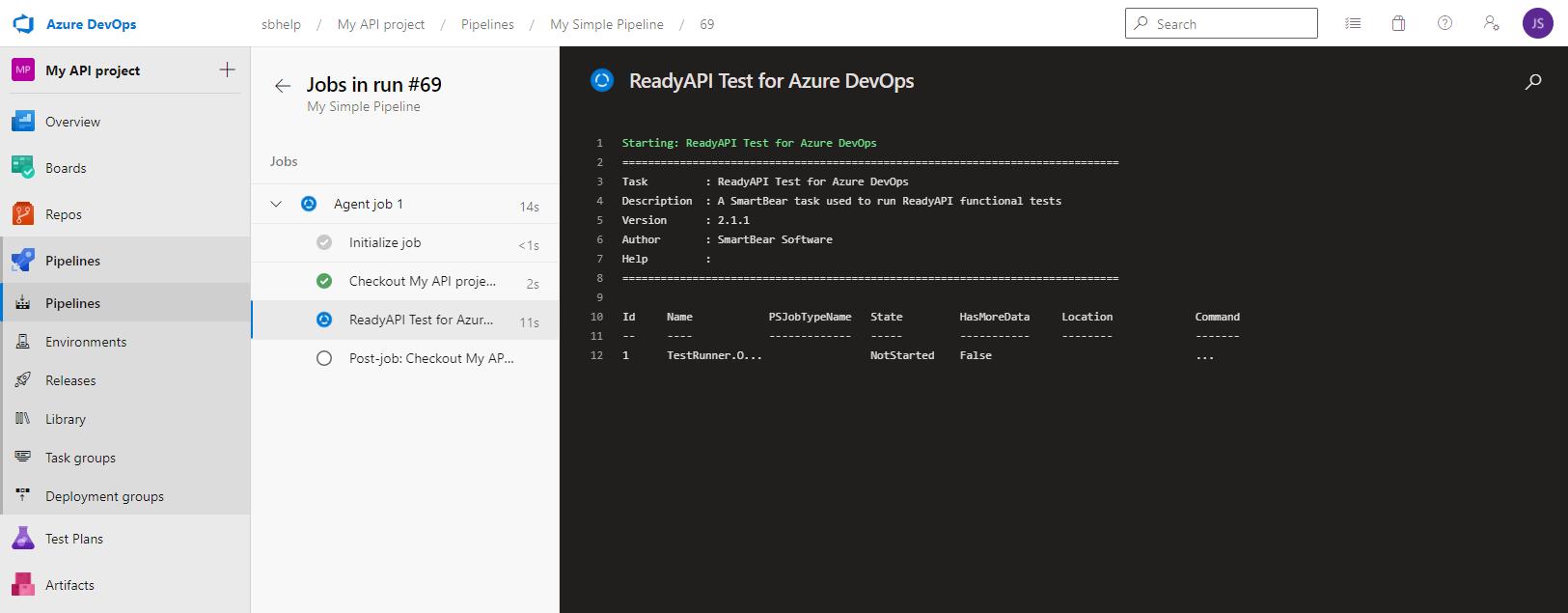 Run ReadyAPI Tests from Azure DevOps (VSTS) | ReadyAPI Documentation