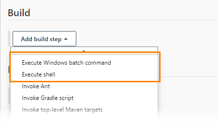 Execute batch command build step