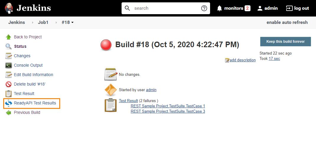 Running ReadyAPI Tests From Jenkins | ReadyAPI Documentation