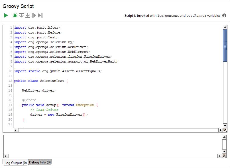 Moving JUnit Selenium Tests to ReadyAPI | ReadyAPI Documentation