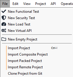 Importing and Exporting Projects | ReadyAPI Documentation