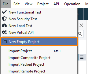 Creating Project From OpenAPI or Swagger Definition   ReadyAPI