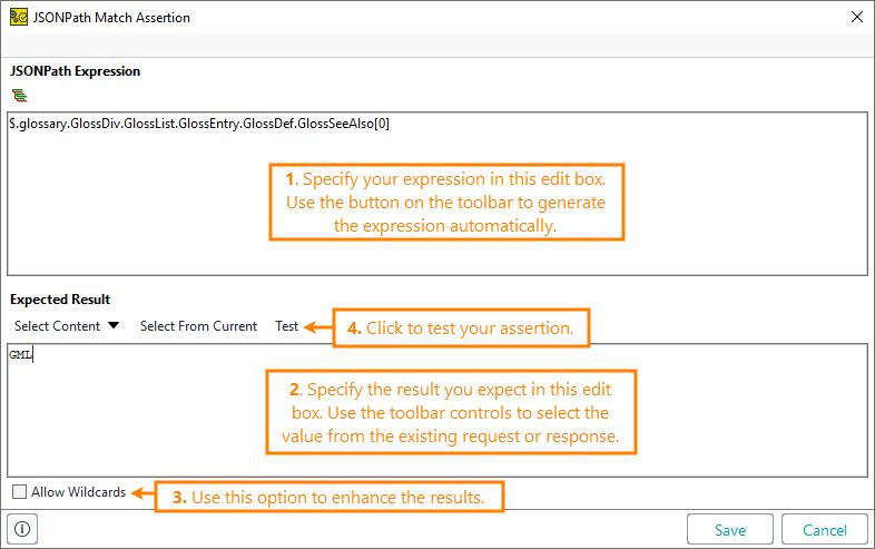 JSONPath Match Assertion | ReadyAPI Documentation