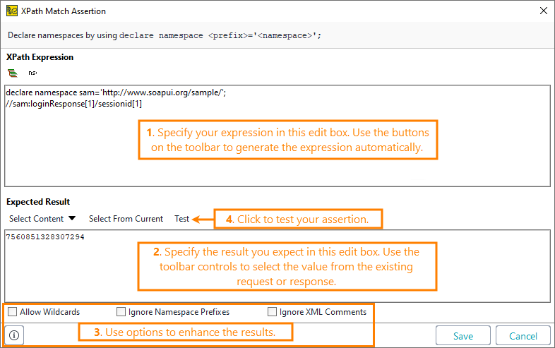 XPath Match Assertion | ReadyAPI Documentation