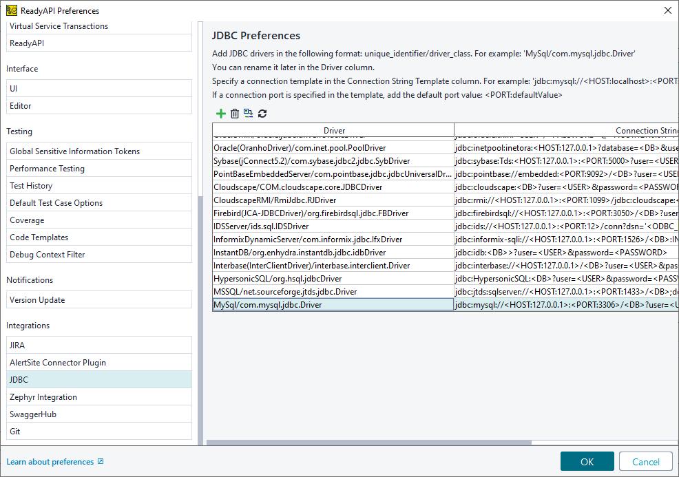 MySQL JDBC Driver | ReadyAPI Documentation