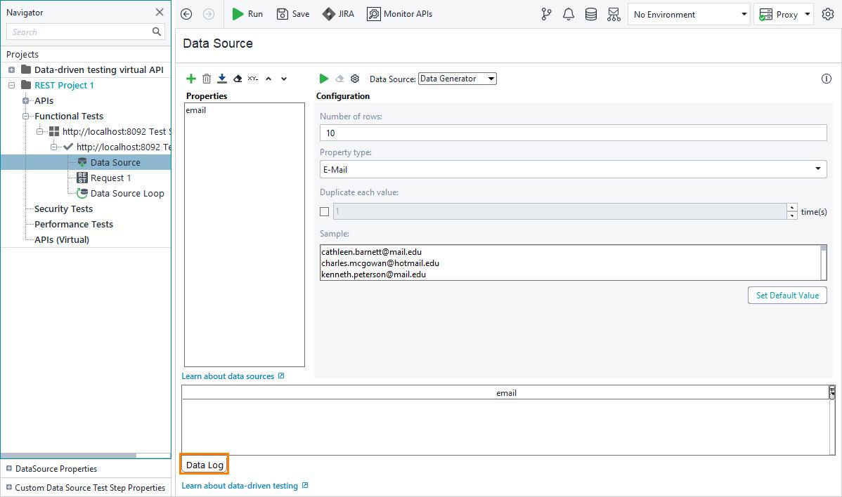 2  Create a Data Source   ReadyAPI Documentation