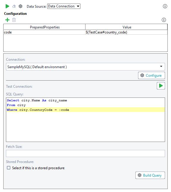 Data Connection Data Source   ReadyAPI Documentation