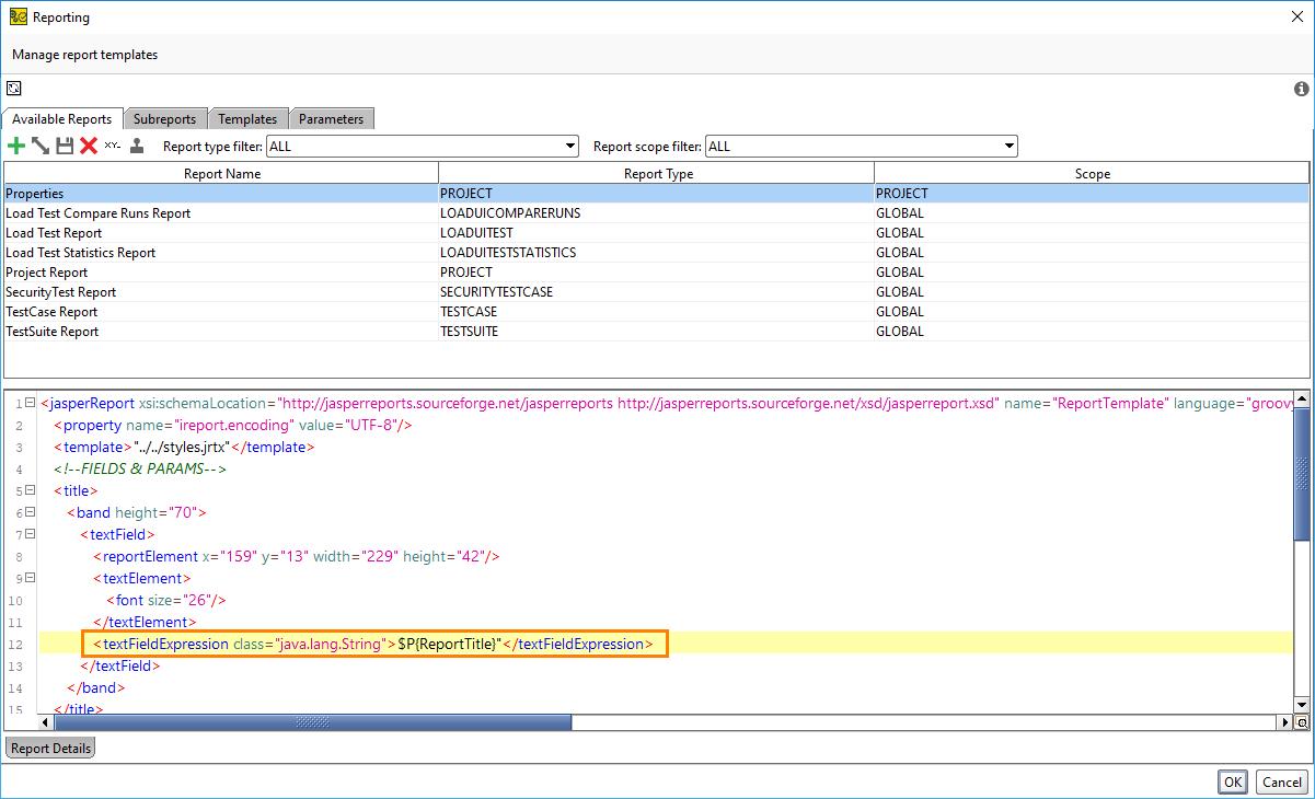 ReadyAPI: Adding A Custom Report Parameter