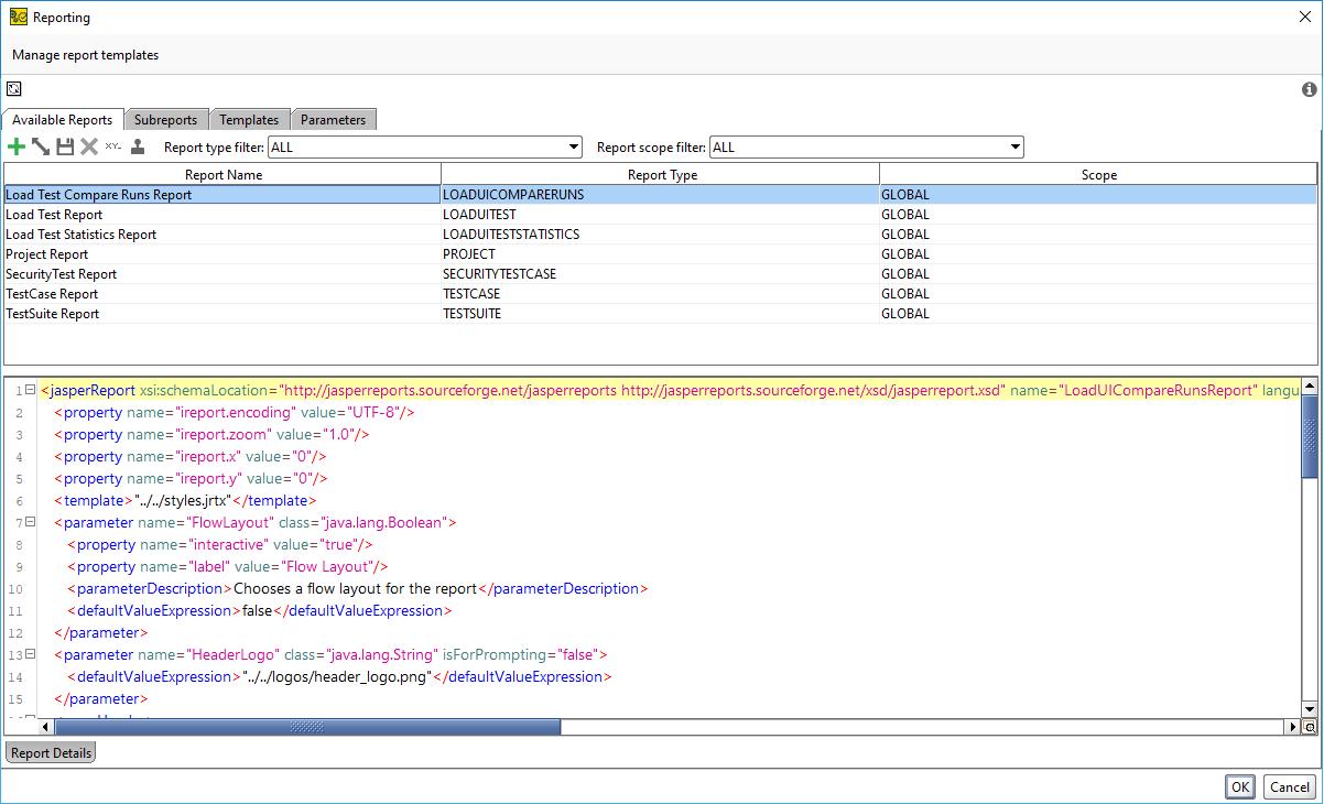 reporting window tabs documentation