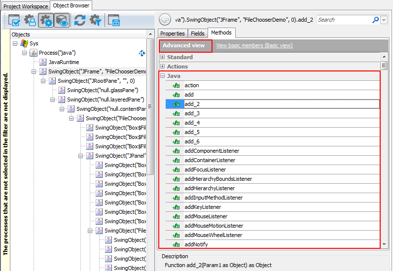 Accessing Native Methods of Java Objects   TestComplete