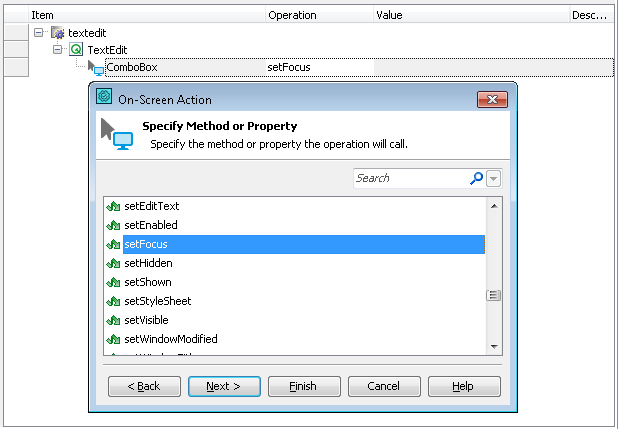 Accessing Native Properties and Methods of Qt Objects | TestComplete