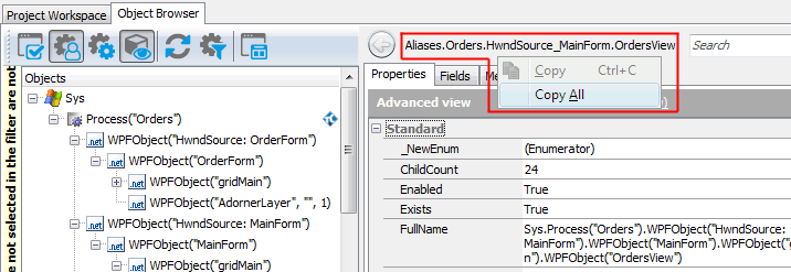 Addressing Objects in WPF Applications | TestComplete