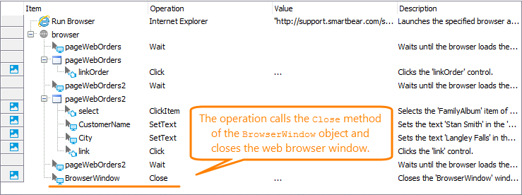 Closing Browsers   TestComplete Documentation