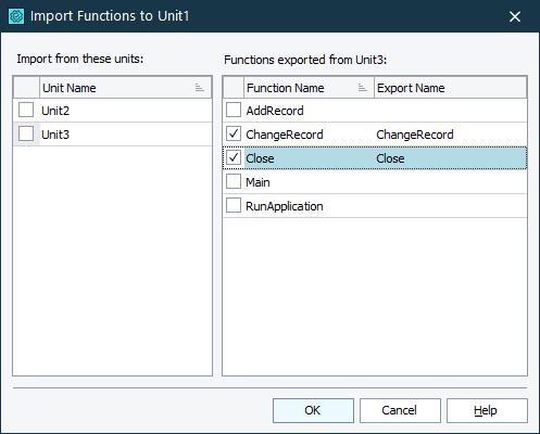 functions of export