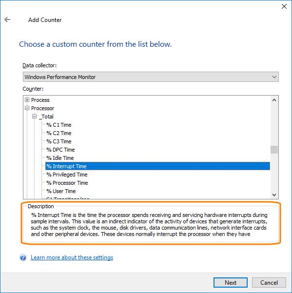 Windows Performance Counters | TestComplete Documentation