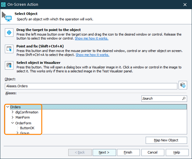 access objects by aliases testcomplete documentation