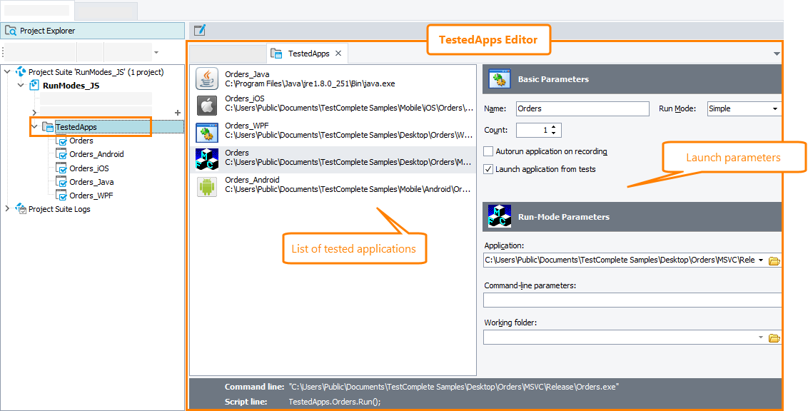 About TestedApps Editor | TestComplete Documentation