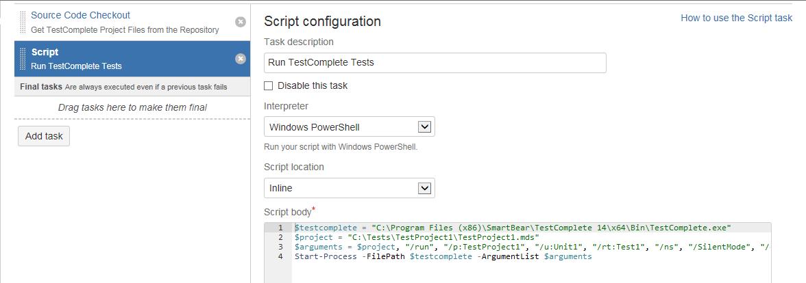 Running TestComplete Tests | TestComplete Documentation