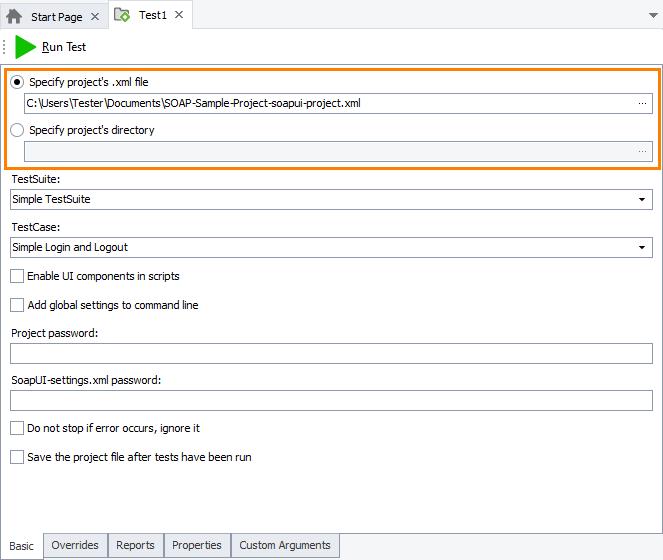 Running ReadyAPI and SoapUI Tests | TestComplete Documentation