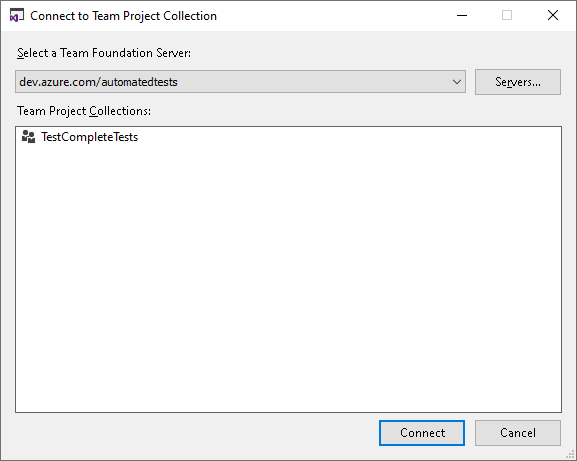 Binding Test Projects to Team Foundation Version Control